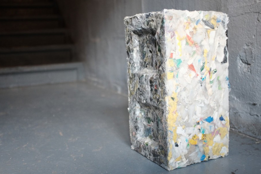 Recycled Plastic Brick developed by ByFusion